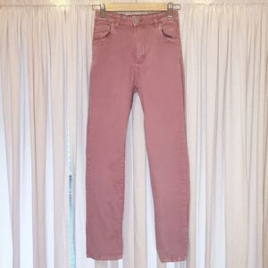 Cotton on high 90s stretch pink jeans